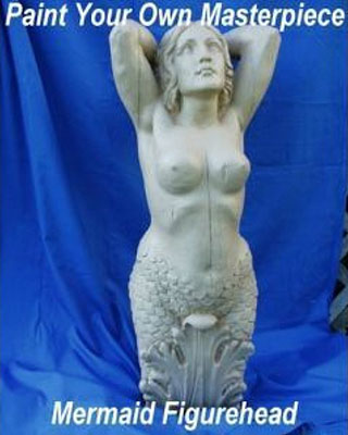 Large Mermaid U-Paint Figurehead